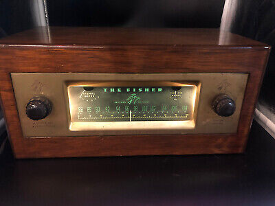 Vintage 1954 Fisher Tube Pre Amp  AM FM Receiver Model 70RT Perfect in every way