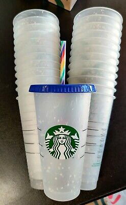 Starbucks Summer 2020 Confetti Color Changing Cup with Rainbow Straw Ships Today