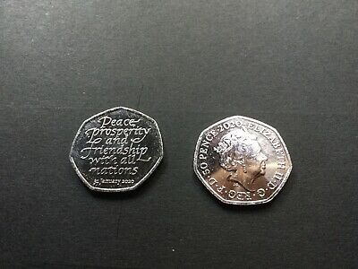 Brand New Brexit 50p Coin 2020 Fifty Pence  uncirculated from a seal bag