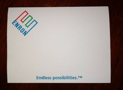 Enron Sticky Note Pad - Rare!  New!  Vintage