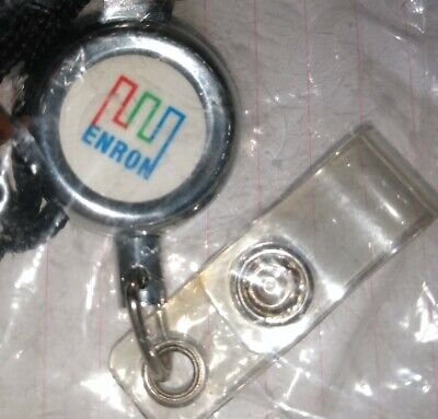 Enron Retractable Badge Lanyard NIP Sealed Rare!