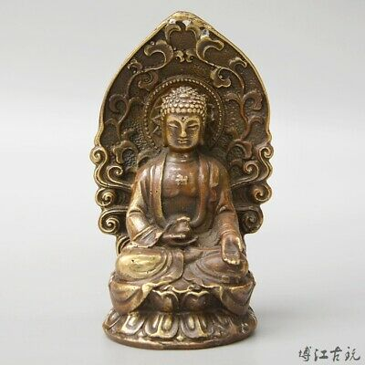 Collectable China Old Bronze Hand-Carved Buddhism Kwan-Yin Exorcism Decor Statue