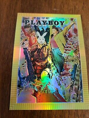 1995 Sports Time Playboy Chromium Cover Cards Refractor R 04