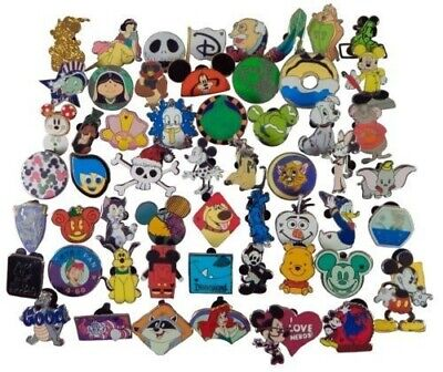 50 Lot - Disney Trading Pins 💎- No Doubles - All Tradeable with Cast Members ✅