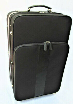 Coach Black Wheel Along Luggage Rolling Suitcase Carry On Bag 5955