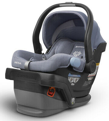UPPAbaby 2019 Mesa Infant Car Seat & Base, Henry (Blue Marl) NEW!! - See Details
