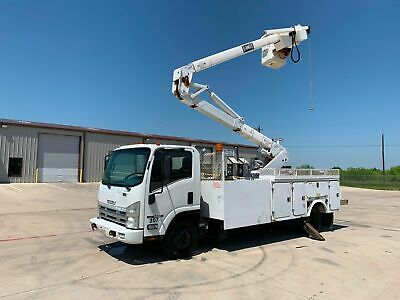 Isuzu Nqr Bucket Truck 42 Ft Material Handling Boom Diesel No Cdl Needed 2011