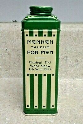 Vintage Mennen Talcum For Men Tin 4 Oz 1940's Full
