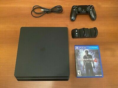 Sony Playstation 4 Slim 500GB HDD PS4 CUH-2015A + Controller  + Game + Cords