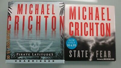 2 Michael Crichton Audiobook CDs - Free Priority Shippin w/in U.S.