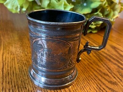 Reed and Barton silver plated cup engraved