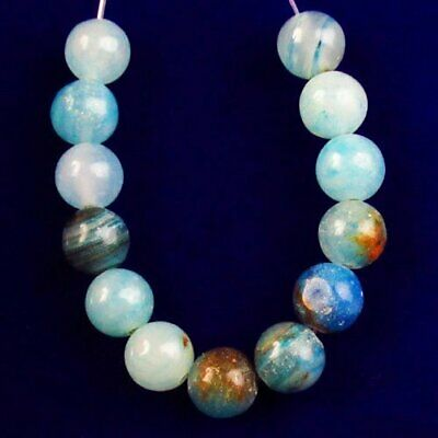 M87859 13Pcs/Set Blue Lace Chalcedony Round Ball Pendant Bead 8mm