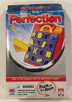 The Game of PERFECTION Timed Puzzle Fun on the Run TRAVEL GAME - Milton Bradley