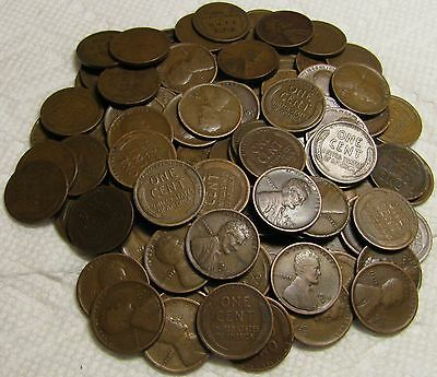 2 Rolls Of 1916 D Denver Lincoln Wheat Cents From Penny Collection