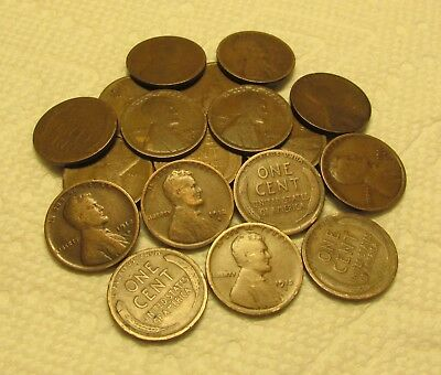 1/2 Roll Of 1912 D Denver Lincoln Wheat Cents From Penny Collection