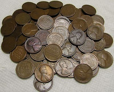 2 Rolls Of 1914 P Philadelphia Lincoln Wheat Cents From Penny Collection