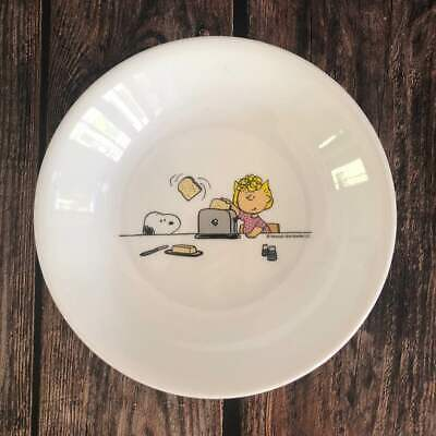 [US Seller] 1x Peanuts Snoopy Corelle Sally Brown Dinnerware Shallow Bowl Plate