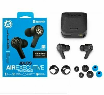 JLab JBuds Air Executive True Wireless Bluetooth Earbuds Charging Case