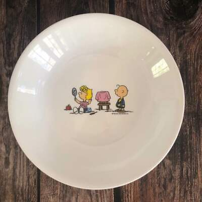 [US Seller] 1x Peanuts Snoopy Corelle Sally Brown Dinnerware Pasta Bowl Plate