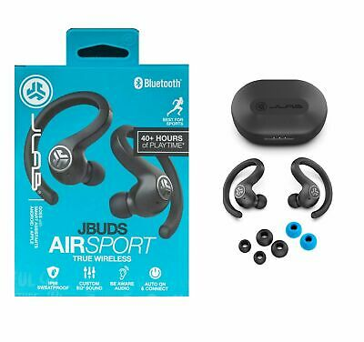 JLab JBuds Air Sport True Wireless Bluetooth Earbuds with Charging Case NEW