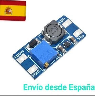 MT3608 Modulo elevador tension ajustable Step Up Boost 2A DC to DC - Arduino