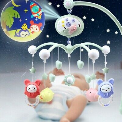 Musical Baby Crib Mobile Toddler Bed Bell W/ Animal Rattles Early Learning Toys