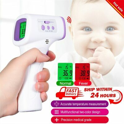 IR Infrared Digital Forehead Fever Thermometer Non-Contact Baby / Adult Body UK