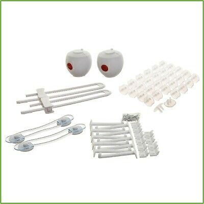 Home Safety Value Kit 46 Pc Multi Purpose Latch Lock Plug Cover Child Baby Proof