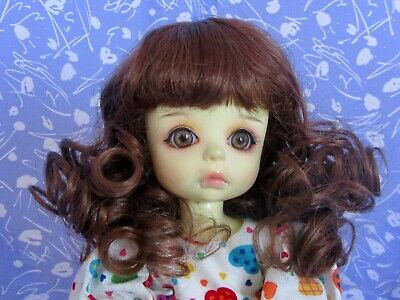 Unbranded Slightly Wavy Bangs NOS RAVEN Black Doll Wig Sz 9-10 Full Long