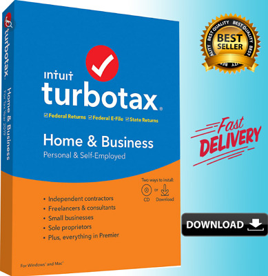 Intuit TurboTax Home & Business 2019 ✅ Latest Version ⚡️Fast Delivery 🔥50% OFF
