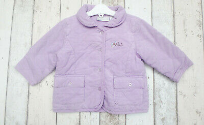 * Gorgeous Baby Girl Purple Quilted Winnie The Pooh Coat - Disney (18 months) *
