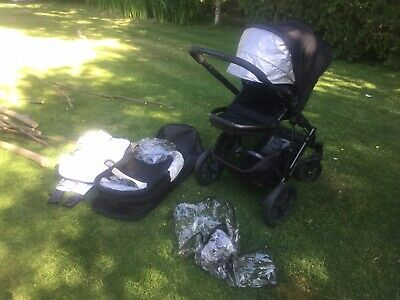 Uppababy Vista 2014 Black With Carrycot And Piggyback Board