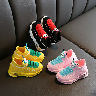 Kids Boys Baby Girls Mesh Sport Running Shoes Soft Toddler Trainers Sneakers