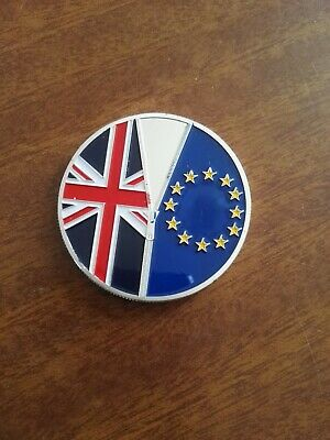 2016 Brexit commemoration coin silver plated June 23  uncirculated condition.