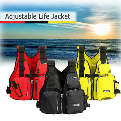 Kayak Fishing Life Jacket Adult Aid Surfing Boating Water Safety Universal Vest