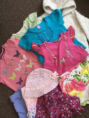 girls 4-5 years bundle Summer Tops,shorts,Cardigan,Hat George, Ted Baker,F&F