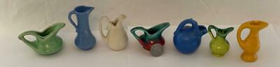 Vintage Lot 7 Miniature Ceramic Pottery Pitchers 2 STANGL 1 California USA 3053