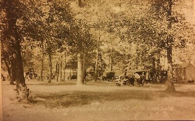 Real Photo Postcard of Mialand Mille Laces Lake Minnesota camp grounds