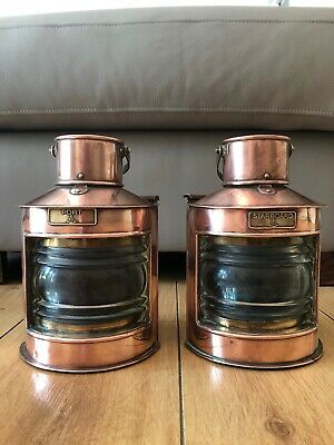 Port And Starboard Copper Oil Lamps