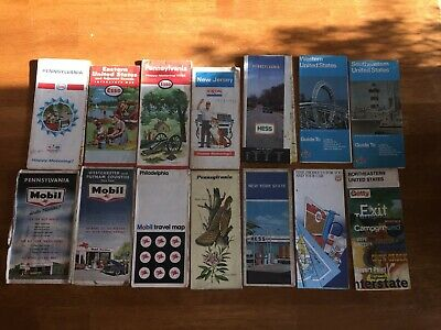 Esso Exxon 58 Amoco Chevron Hess Mobil Phillips 66 Getty Road Maps 60'S 70'S '66