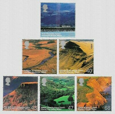 2004 A British Journey Wales Set of 6 Stamps MNH UM Unmounted Mint sg 2466-2471