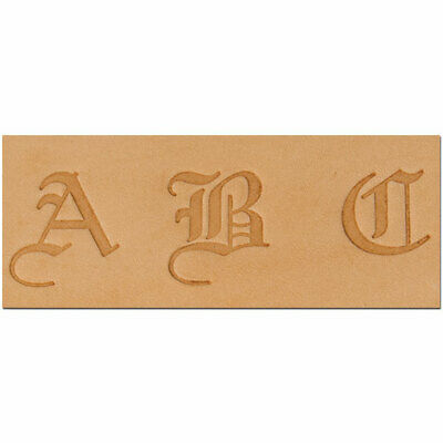 Old English Alphabet Stempel Set für Leder