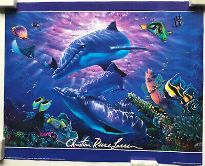 A Perfect World Underwater Dolphin Artwork By Christian Riese Lassen Mini Poster