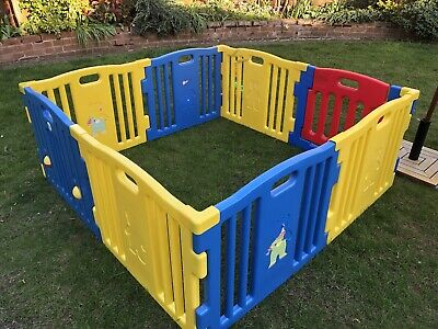 Baby and Toddler Playpen 8 Square Panels with Gate Used No Mats