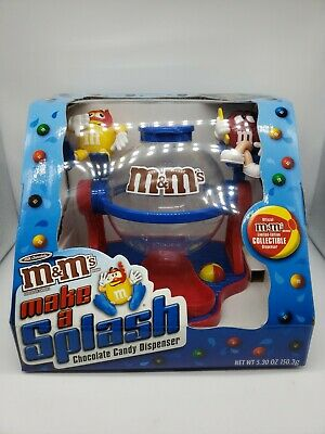 New M&M's Candy Dispenser Make A Splash Chocolate Limited Edition Collectible