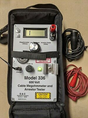 S & C Model 336 Railroad Megger Cable And Arrestor  Tester Megohmmeter Free Ship