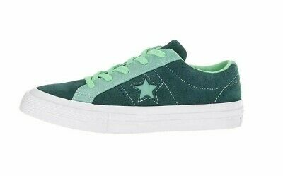 Converse Women's Girls All Star One Star Ox Green Suede Size 2