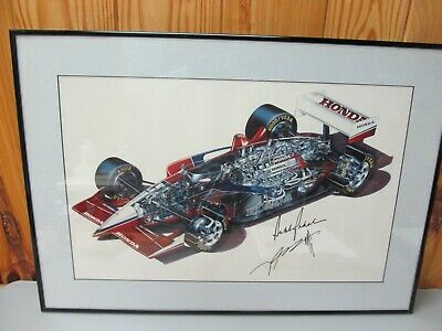 Honda Indy Car Signed Art Print – Signed by Mike Groff and Bobby Rahal