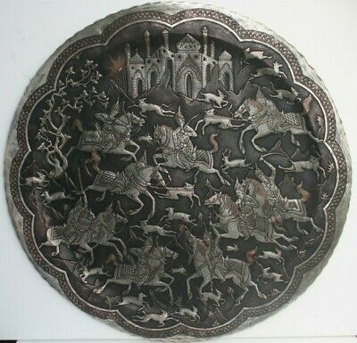 78 cm ANTIQUE ISLAMIC Art middle east Tablet Wall Plate 1850-1890th century