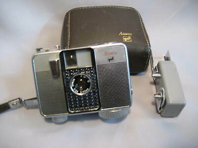 GAF Ansco Memo II 35mm Half Frame Camera with Flash